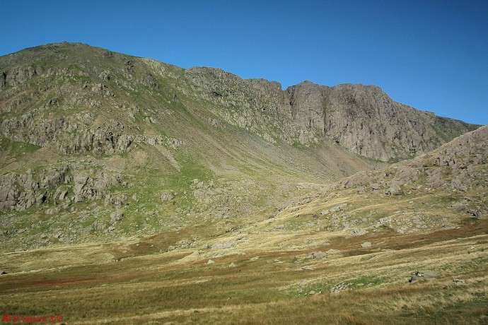 Approaching Dow Crag.