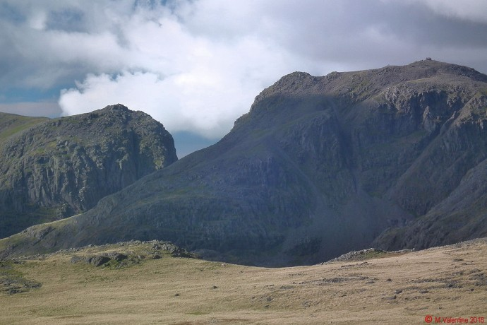 The Scafells from Ore Gap.