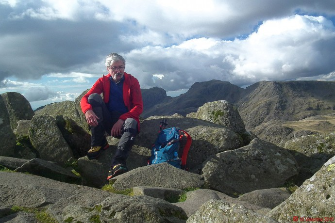 Yours truly at Bowfell summit.