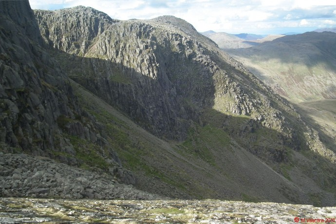 Bowfell Buttress from The Great Slab.