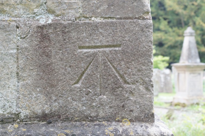 Benchmark on a church