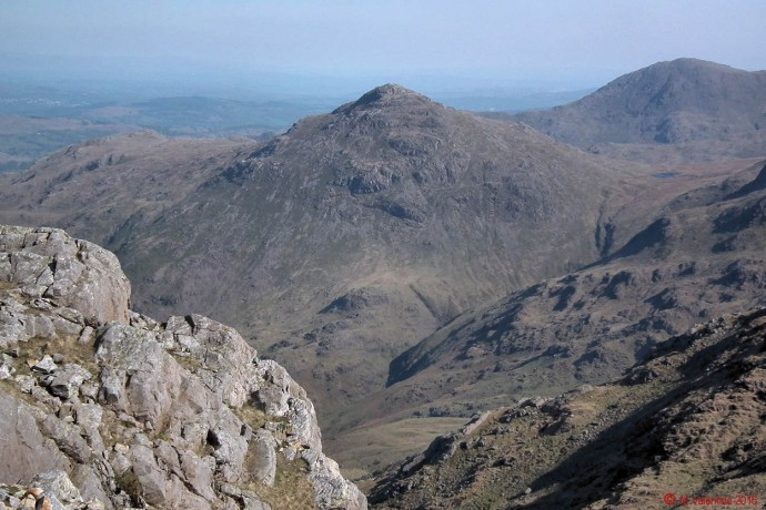 Pike of Blisco, taken on the descent from Bowfell summit to Three Tarns area.