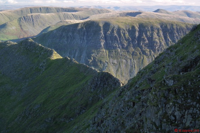 Striding Edge, with St. Sunday Crag beyond.