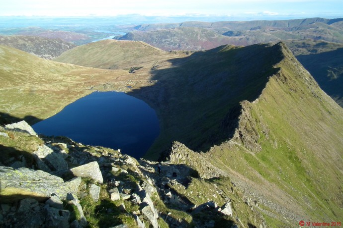 Striding Edge and Red Tarn.