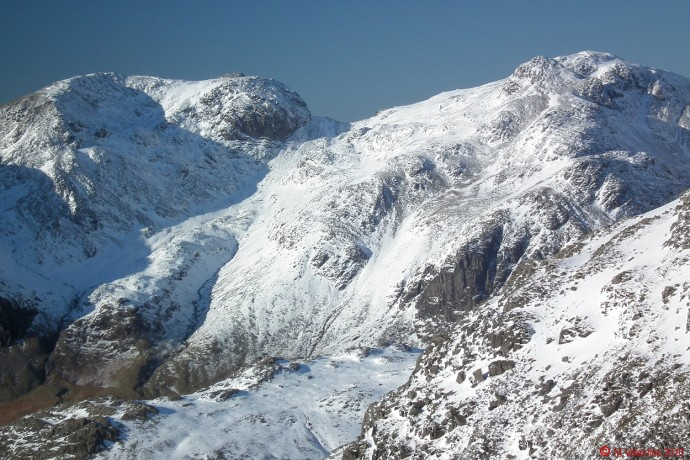 A closer view of the Scafell's.