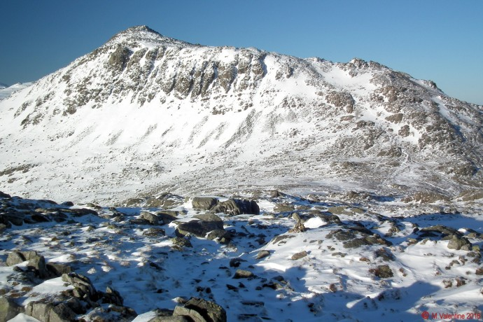 Bowfell from Crinkle Crags.