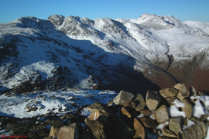 Crinkle Crags and Bowfell.