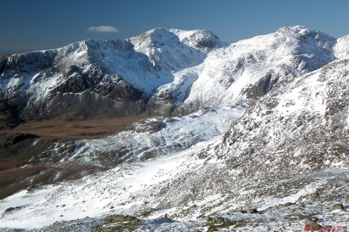 The Scafells from Crinkle Crags.