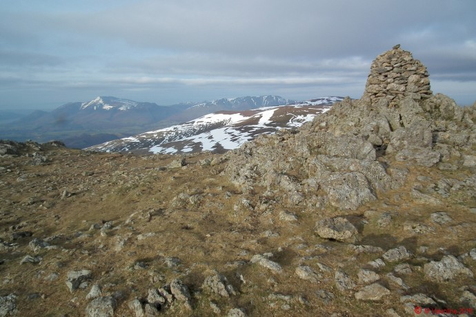 The summit cairn at Raise.