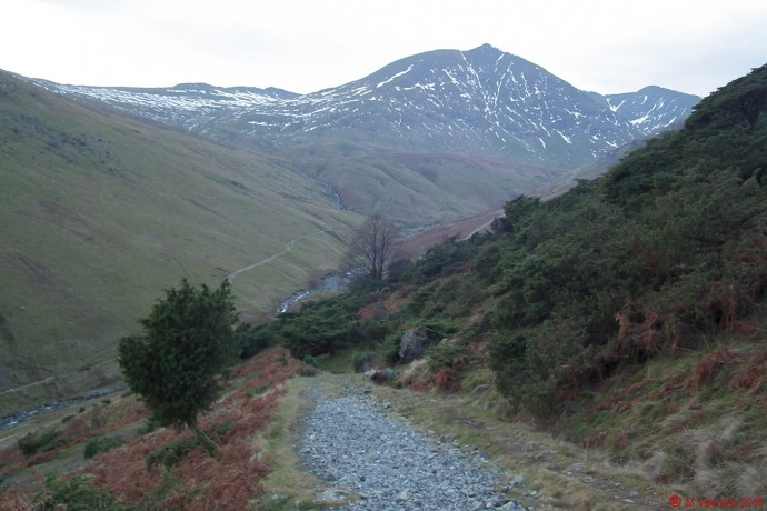 Looking towards Catstye Cam from Stang End.