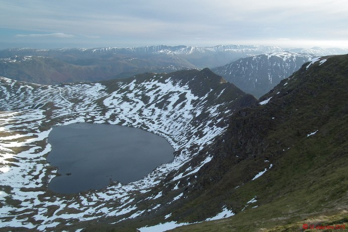 The view across Red Tarn.