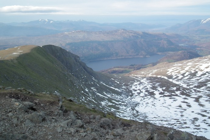 Looking across Browncove Crags and Thirlmere.