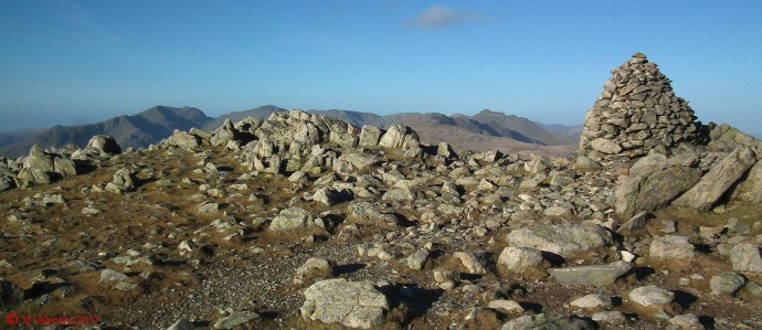 Scafells to Bowfell panorama.