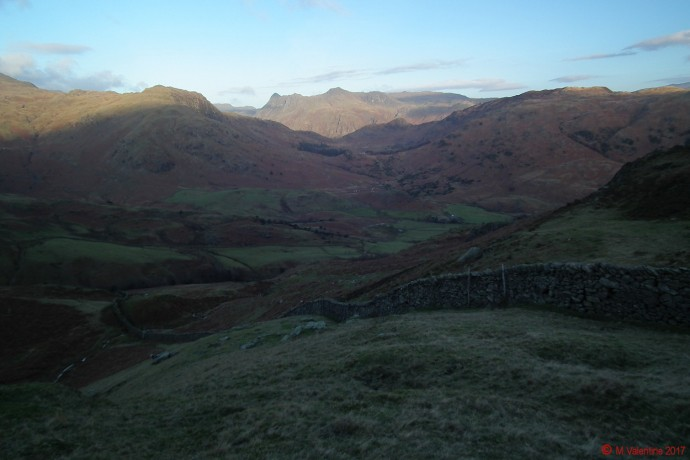Looking towards the Langdale Pikes from Great Intake.