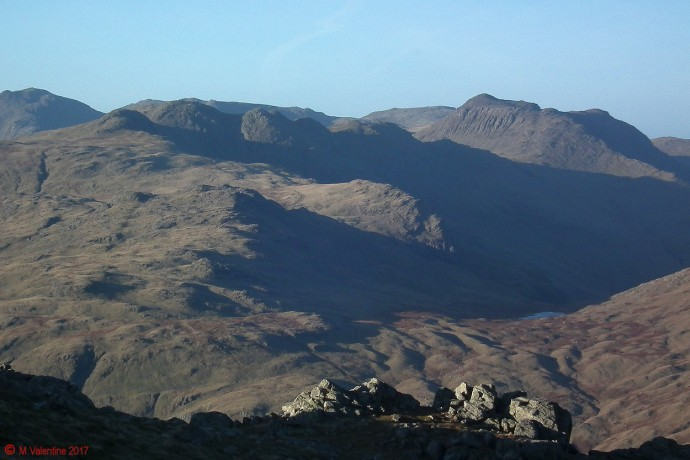 Crinkle Crags, Bowfell, Red Tarn.