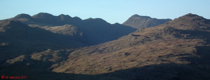 Crinkle Crags, Bowfell, Pike of Blisco.