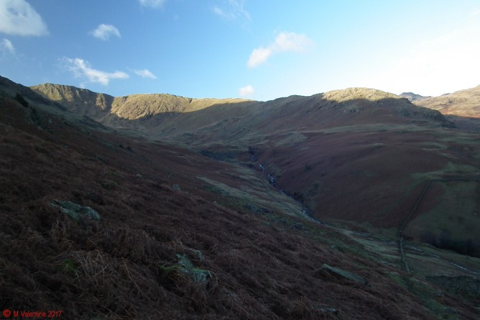 The ascending ridge to Great Carrs.