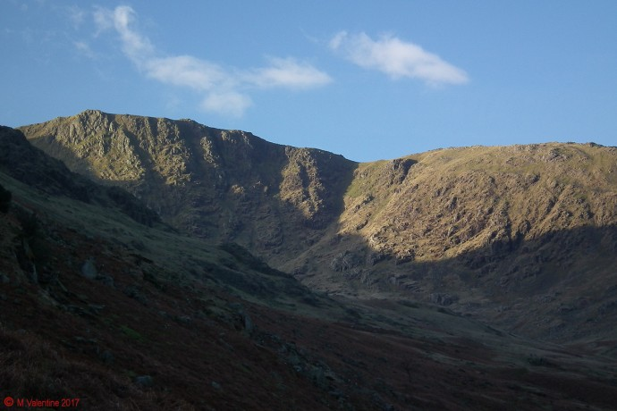 Great Carrs from lower flanks of Birk Fell.