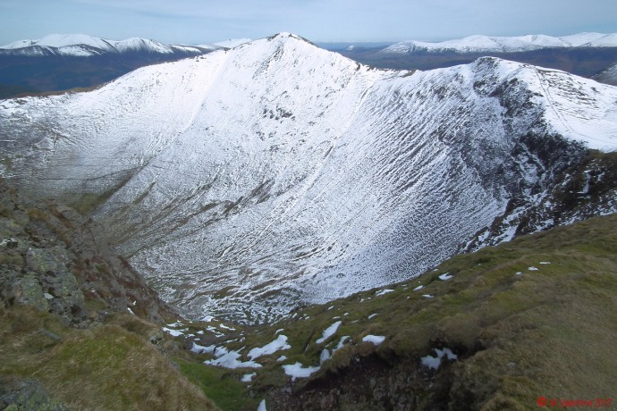Grisedale Pike from Hobcarton Crag ridge.