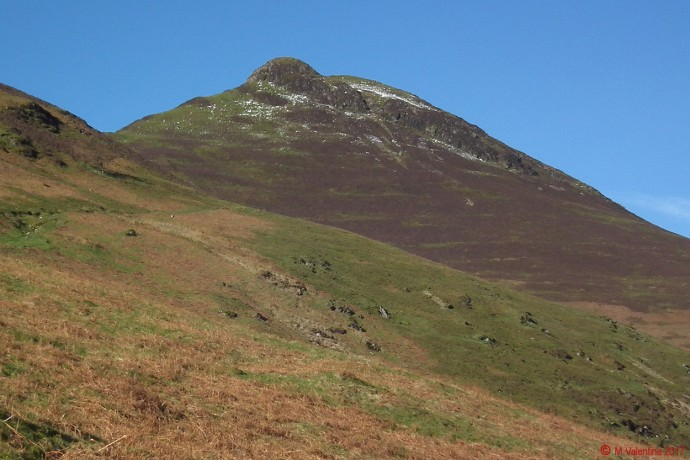 Causey Pike as seen from the lower flanks of Rowling End.