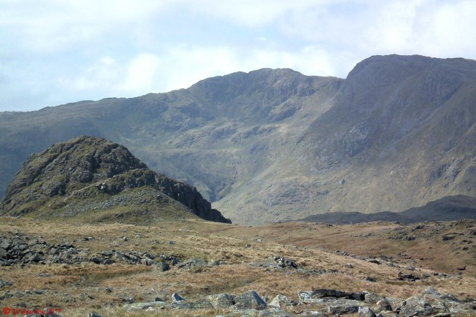 Pike O'stickle and Crinkle Crags.
