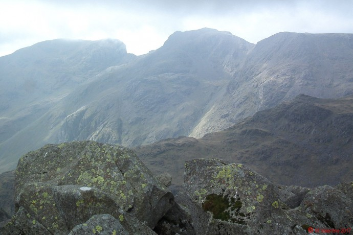 Scafell's from Bowfell summit.