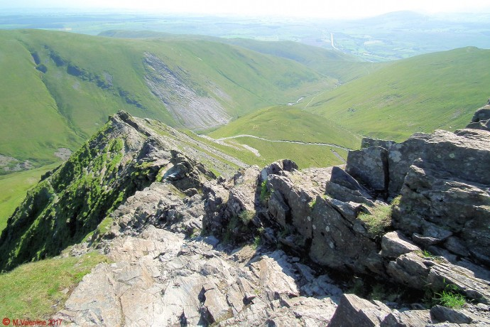 Looking back down Sharp Edge.