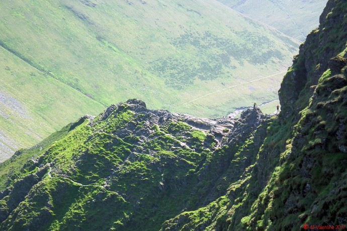 Sharp Edge from path leading towards Mungrisdale Common & Bannerdale.