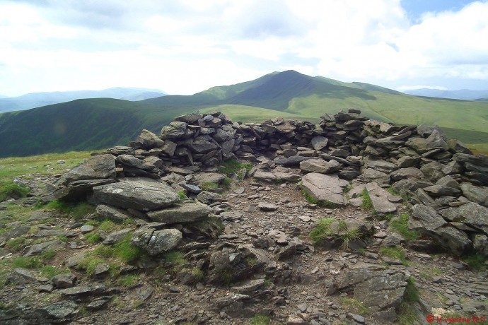 Looking back to Blencathra from Bowscale Fell.