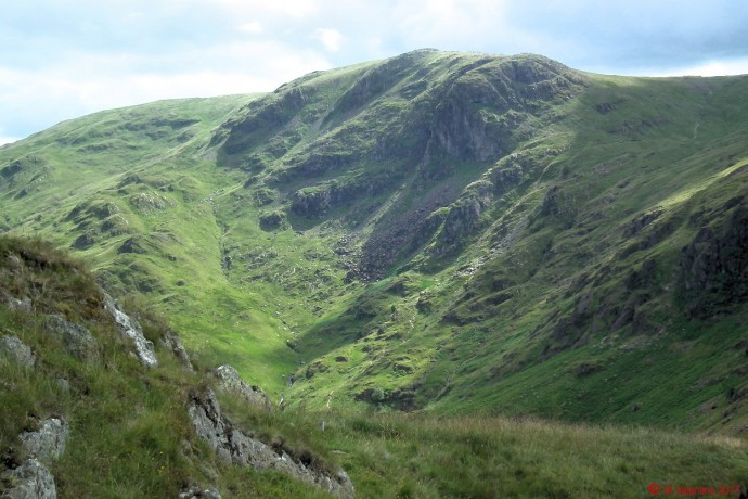 Dove Crag from Hartsop above How ridge.