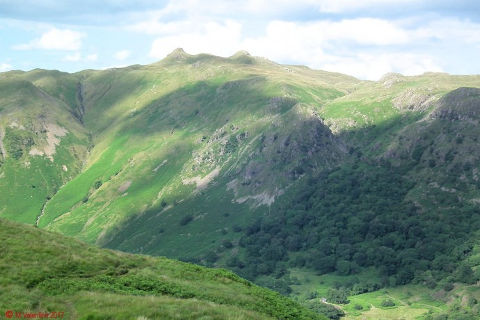Angletarn Pikes from Bleaberry Knott ridge area.