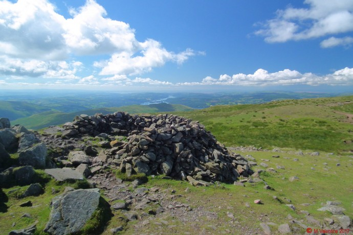 Windermere and the coast, from Red Screes summit.