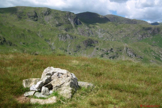 Dove Crag, with Hart Crag, and Fairfield.