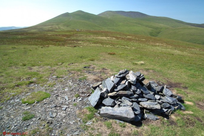 Skiddaw from Lonscale Fell summit.