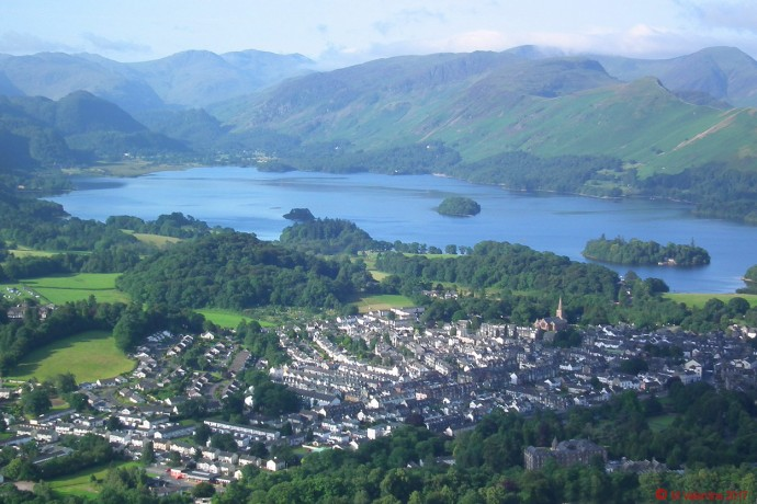 Keswick & Derwentwater from Latrigg.
